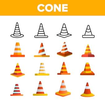 Cones de tráfego laranja