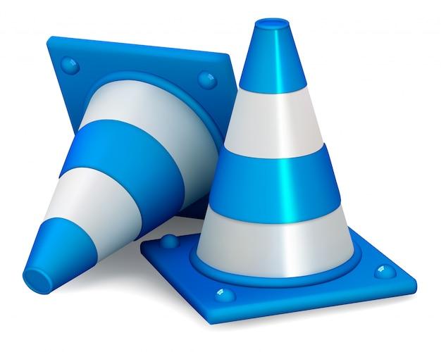Cones de trânsito isolados