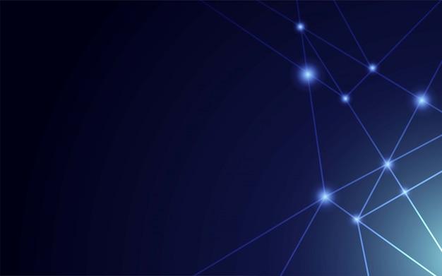 Conexão à internet, senso abstrato de design gráfico de ciência e tecnologia.