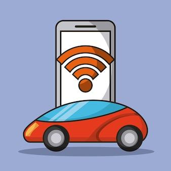 Conexão autônoma de aplicação de telefone celular com wifi