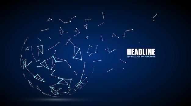 Conexão com a internet, senso abstrato de design gráfico de ciência e tecnologia.