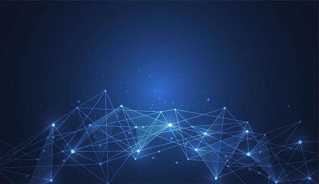 Conexão com a internet, sentido abstrato de fundo de ciência