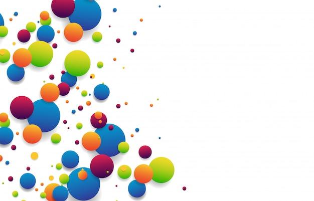 Conexão de bolas listradas coloridas abstratas isolada