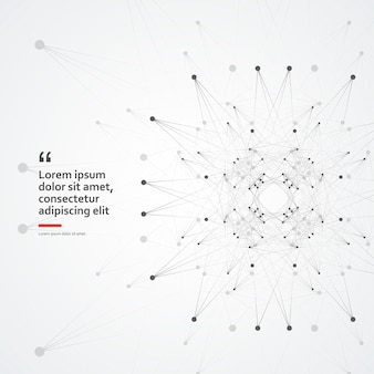 Conexão de célula molecular tecnologia de internet biologia ciência base fundo geométrico abstrato