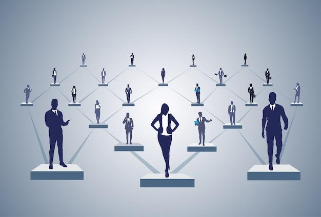 Conexão de pessoas de negócios