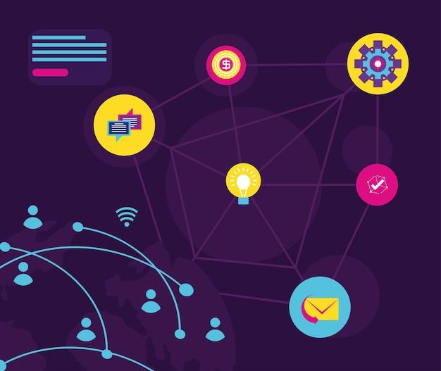Conexão de rede de internet