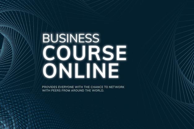 Conexão de rede do modelo de curso de negócios online