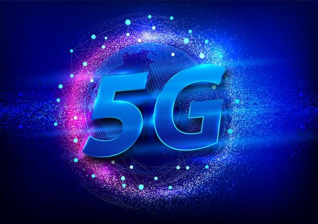 Conexão de rede global 5g.