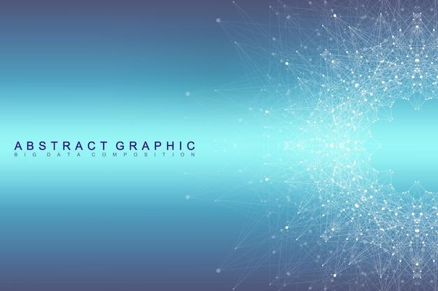 Conexão de rede global. fundo de visualização de rede e big data. negócio global. ilustração vetorial.