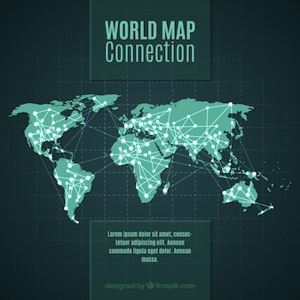 Conexão do mapa mundial