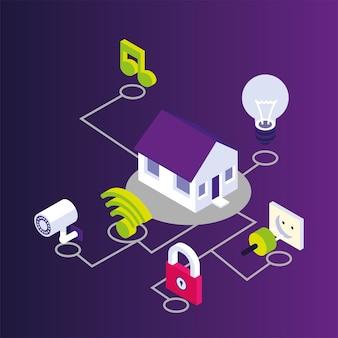 Conexão doméstica de serviço doméstico inteligente