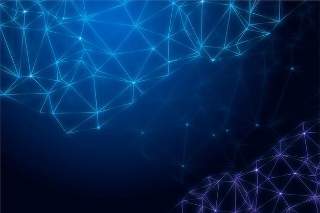 Conexão gradiente de fundo de tecnologia