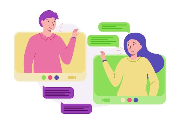 Conexão pessoas rede de vídeo de casa