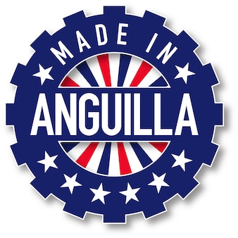 Confeccionada em selo de bandeira de anguila. ilustração vetorial