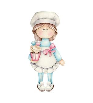 Confeiteiro de boneca de padaria