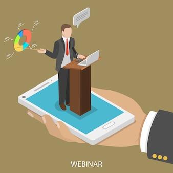 Conferência da web para celular.
