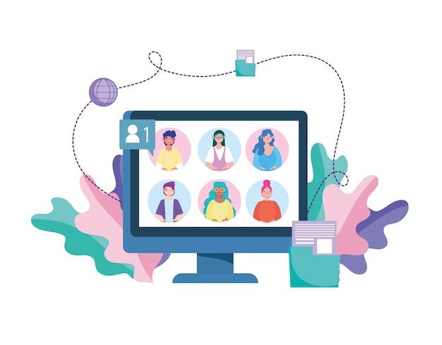 Conferência de reunião virtual
