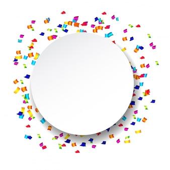 Confete abstrato com confetes de bolinhas.