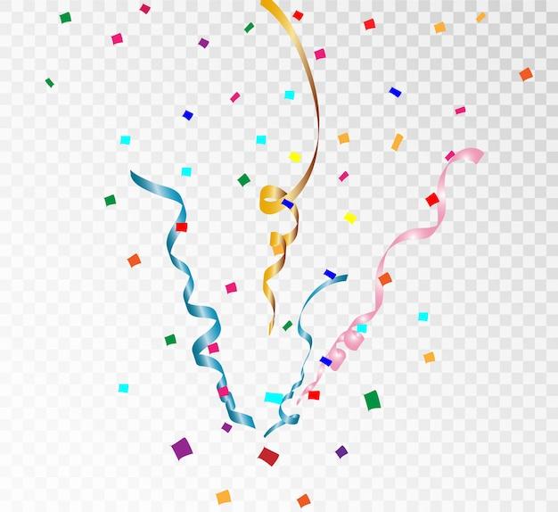 Confete colorido brilhante isolado