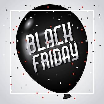 Confete de balão de publicidade de sexta feira sexta-feira preta