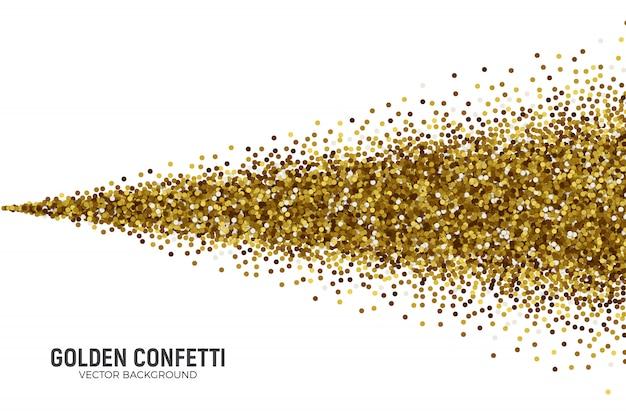 Confete dourado dispersão de vetor