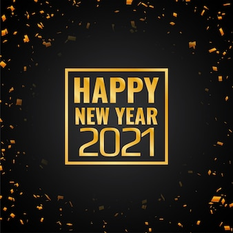 Confete dourado feliz ano novo 2021