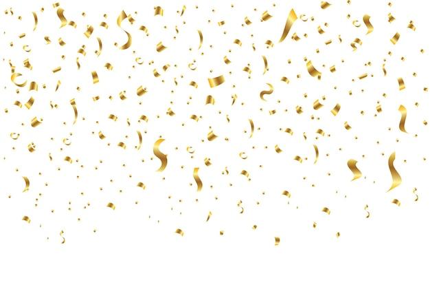 Confete dourado isolado.