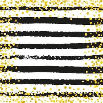 Confete glitter dourados com pontos