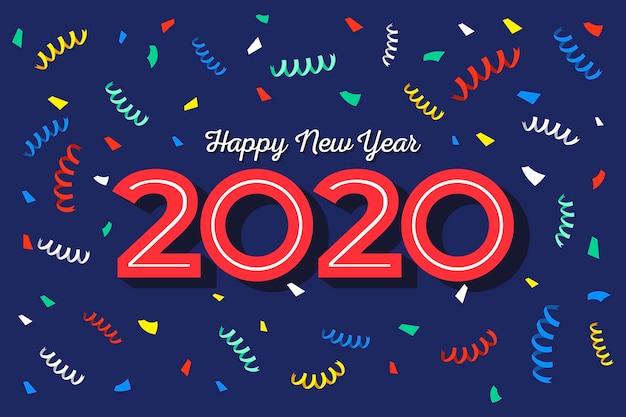 Confetes coloridos em espiral para o fundo de ano novo