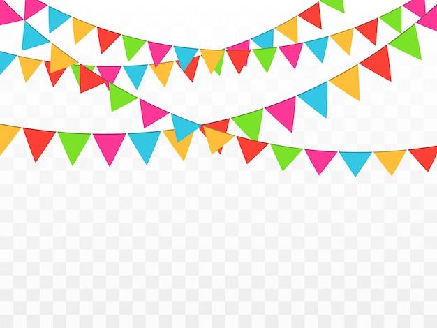 Confetes coloridos isolados. fundo festivo. feliz aniversário. feriado.