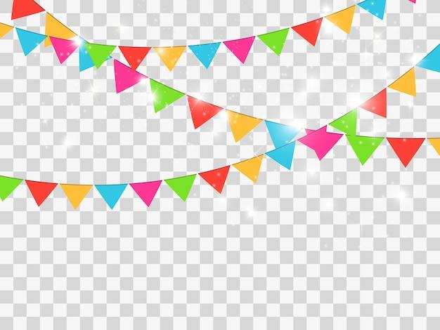 Confetes coloridos isolados. fundo festivo