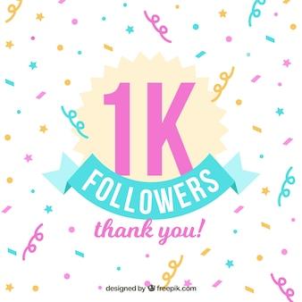 Confetes com mil seguidores