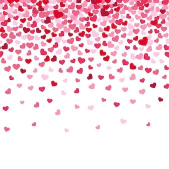 Confetes de coração voador