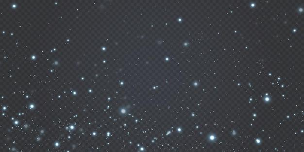 Confetes de fundo de celebração de natal estrelas caindo fundo de textura pequena luz de natal.