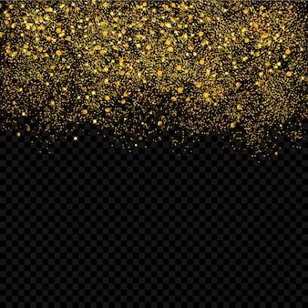 Confetes de ouro brilhos