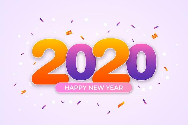 Confetti ano novo 2020 conceito de plano de fundo