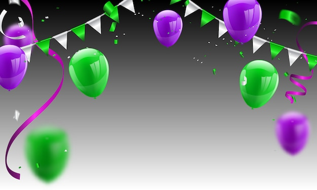 Confetti concept design dia das bruxas