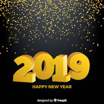 Confetti novo ano 2019 fundo