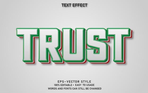 Confiança de efeito de texto editável