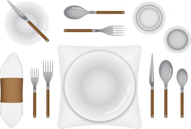 Configuração da mesa para refeições requintadas