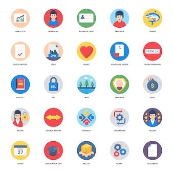Configuração e setas ícones planas