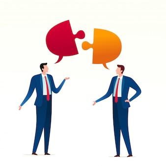 Conflito reunião de negócios