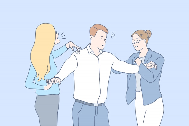 Conflito terminando, luta impedindo ilustração