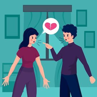 Conflitos de casal no conceito de relacionamento