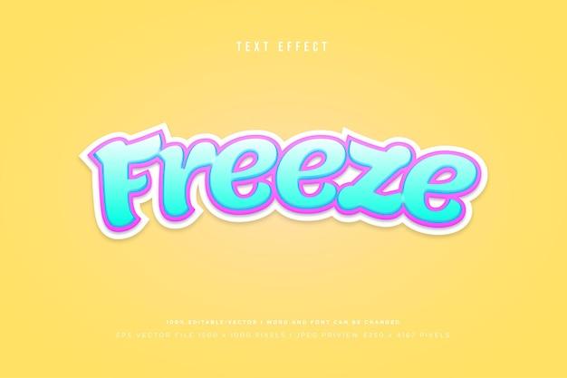 Congelar efeito de texto 3d em fundo amarelo