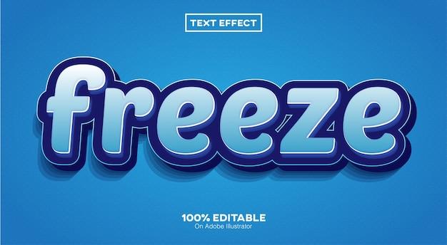Congelar efeito de texto 3d