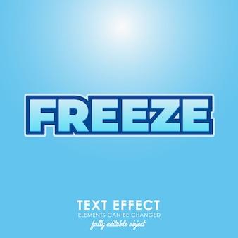 Congelar estilo de texto premium azul