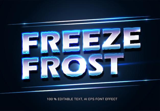 Congelar tipografia de efeito de texto de geada