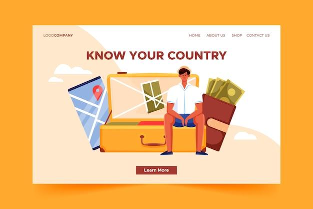 Conheça a página de destino do seu país