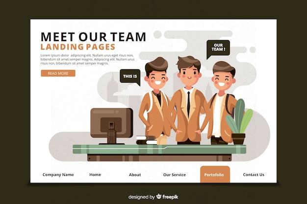 Conheça o nosso conceito de equipe para a página de destino